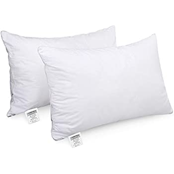HOMEIDEAS Goose Down Alternative Bed Pillows for Sleeping - Super Soft Plush Fiber Fill, Dust Mite Resistant & Hypoallergenic, NO Flat! (King Size,Set of 2)