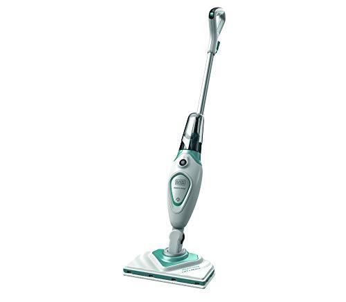 - BLACK+DECKER FSM1616 Stick Handy Electric Steam Mop Vacuum Cleaner, 220V (Not for USA), White/Blue