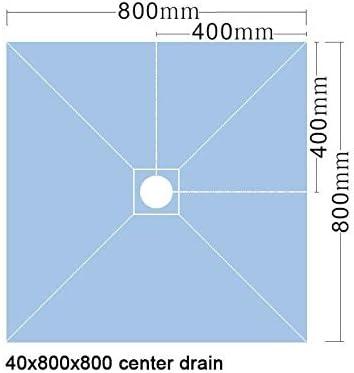 VALSTORM Plato de Ducha 80x80x4cm Listo para baldosa con Plato de ...