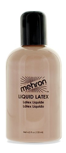 Mehron Makeup Liquid Latex Light Flesh, 4.5 (Easy Halloween Makeup Looks)