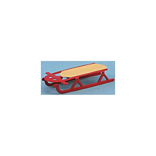 International Miniatures Dollhouse Miniature 1/2 In. Flyer Sled