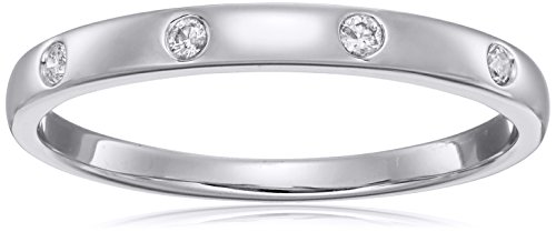 Gold Jewelry Collection (10k White Gold Diamond Ring, Size 6.5)