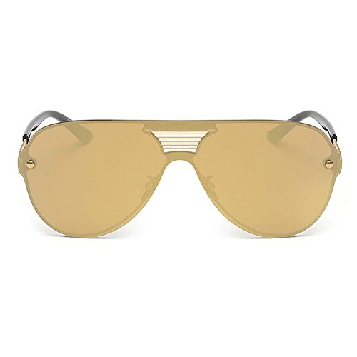 LOMOL Fashion Trendy Metal Frame Reflective Lens UV Protection Personality - Prescription Sunglasses Online I Where Buy Can