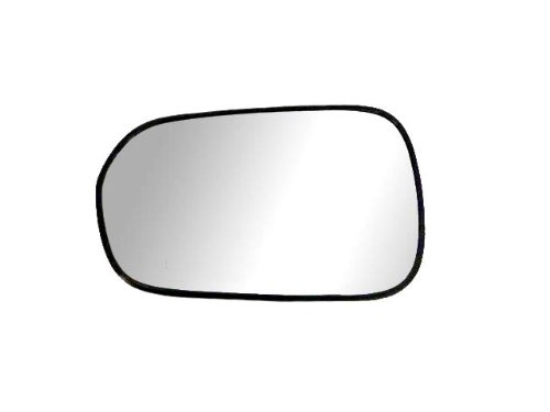 Fit System 88087 Driver Side Non-heated Replacement Mirror Glass with Backing Plate (Fit Driver Side Honda Mirror)