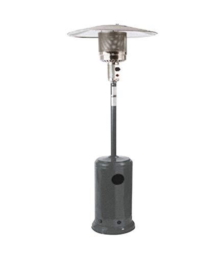 PAPILLON 22050009 Estufa Gas Sombrilla Esmaltada para Exterior, Metal, Metalizado, 47x47x90 cm