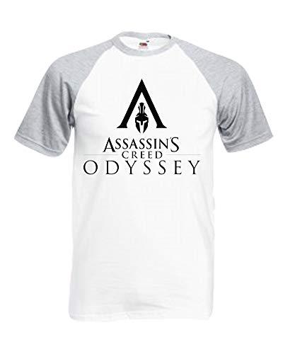 Price comparison product image Palalula Women's Assassins Creed Odyssey Kassandra Alexios Tshirt Tee Shirt M025 T-Shirt S Grey-White
