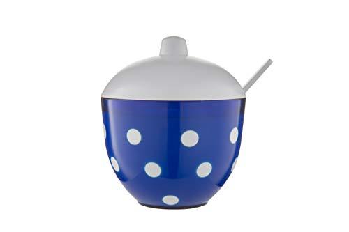 BEROSSI Marusya Sugar Bowl, Blue Translucent