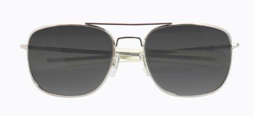 UPC 024718225210, HUMVEE HMV-52B-SILVR Polarized Bayonette Style Military Sunglasses with Gray Lenses and Chrome Silver Frame, 52mm