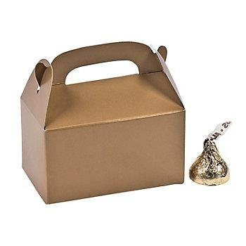 Paper Mini Gold Treat Boxes - 24 Boxes by FE