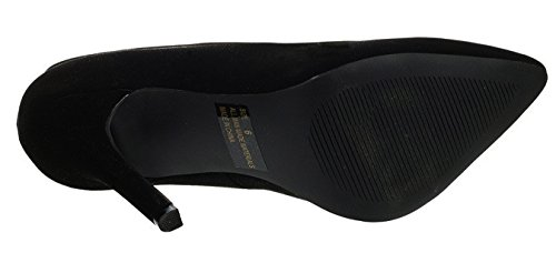 Cambridge Select Mujeres Classic Slip-on Cerrado Dedo Del Pie Stiletto High Heel Pump Negro Nbpu
