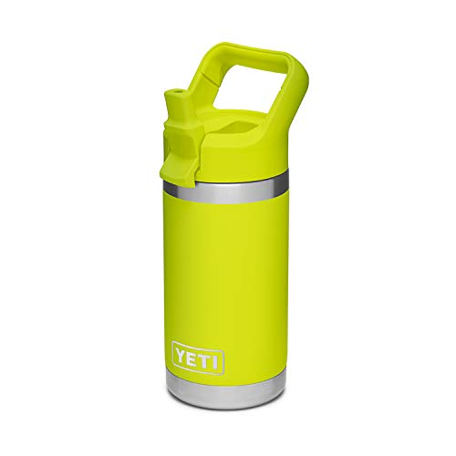 YETI Rambler Jr. 12 oz Kids Bottle, with Straw Cap, Chartreuse