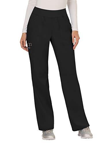 Cherokee Women's Mid Rise Straight Leg Pull-on Pant, Black, ()