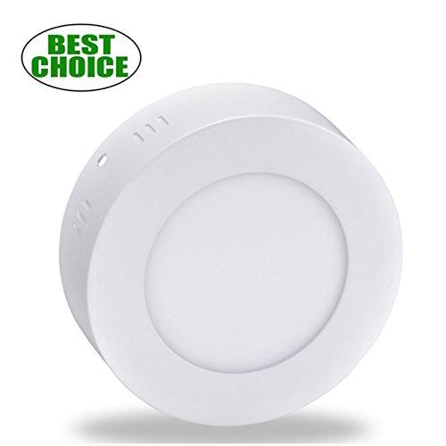 "Led Flush Mount Ceiling Light 4.72""6W 480LM 5000K Daylight White (40 Watt Halogen Bulb Equivalent) Round Wall Mounted Fixtures Lamp for Closet, Basement,Utility Room - 40 Ceiling Mounts"