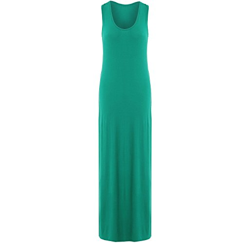 Verde Muscle 26 Vest 8 Janisramone Giada Dress Womens Ladies Sizes Long Racer Summer Back Jersey Maxi AnZaqOWBn
