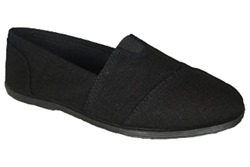 Soda Femmes Object Bout Rond Chaussures Plates, 8.5 B (m) Us, Noir Noir