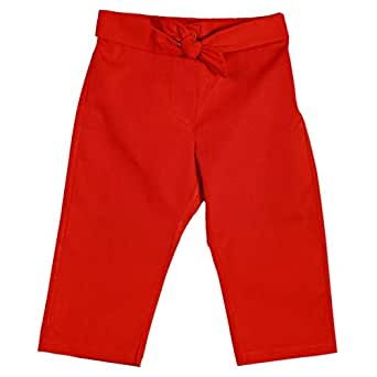Le Coccole Kids Atelier Red Drawstring Trousers Pant For Girls