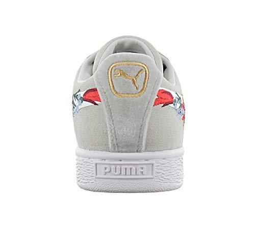 Deporte De zapatillas Gris Calzado Mujeres Puma Hyper Suede Embelished CwTqUU
