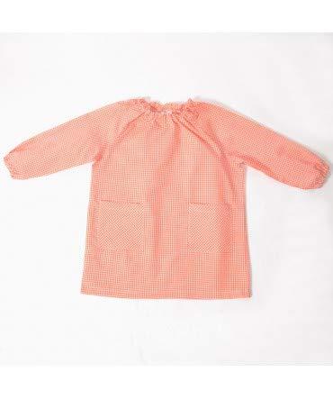 Bata Escolar Unisex Naranja - Medida Bata Infantil - 6 años (104-116 cm
