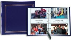 3-ring 2-up slip-in pocket NAVY-BLUE binder album for 400 photos - 4x6 by Pioneer Photo Albums