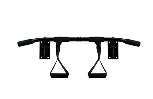 Black Marlin Pull Up Bar (Chin Up Bar) – Home Gym Doorway Mounted Workout Bar – For Upper Body & Core Strength Training Review