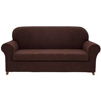 Amazon Com Hokway 2 Piece Stretch Sofa Slipcover Spandex