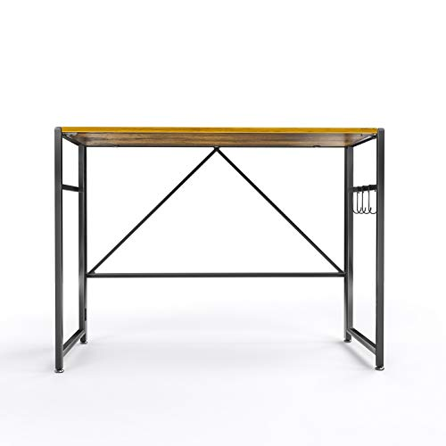 Computer Home Office Desk 35 Inch,Home Gaming Desk,Study Computer Desk Home ,Black Metal Frame, Rustic Brown (Ancient Wood)