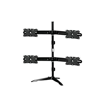 Image of Amer Mounts AMR4S32: Large Quad Monitor Mount - Desk Stand - Displays up to 4/Four 32 inch Screens