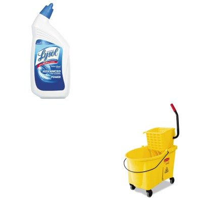 KITRAC74278CTRCP618688YW - Value Kit - Rubbermaid 6186-88 WaveBrake 44 Qt Side Press Combo (RCP618688YW) and Professional LYSOL Brand Disinfectant Toilet Bowl Cleaner (RAC74278CT)