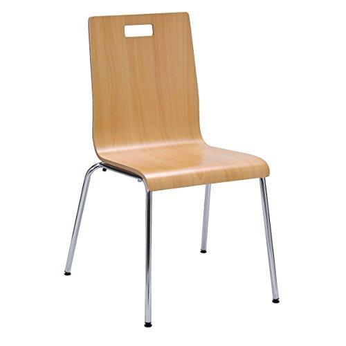 (KFI Seating Jive Series Stack Chair, Natural)