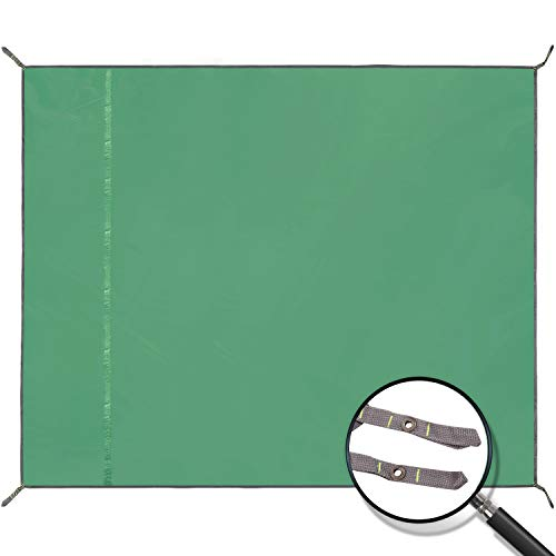 REDCAMP Waterproof Camping Tarp Lightweight to Cover Sun or Rain, Large Compact Tent Tarp Footprint for Ground or Under Tent, Green 95
