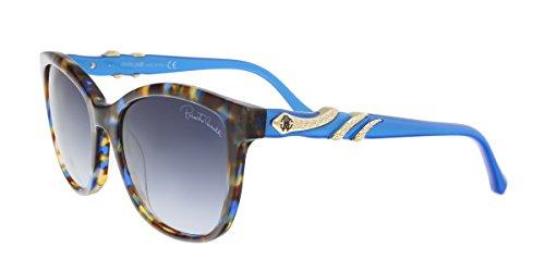 Roberto Cavalli RC877S/S 55W KRAZ Blue/Brown Square Sunglasses for ()