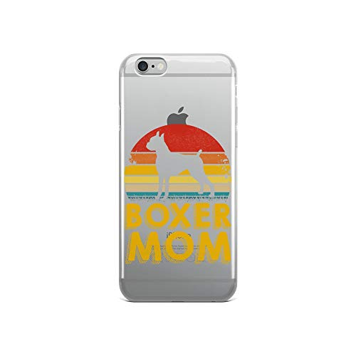 iPhone 6/6s Pure Clear Case Crystal Clear Cases Cover Vintage Boxer Silhouette Retro Sunset Mom Premium Transparent