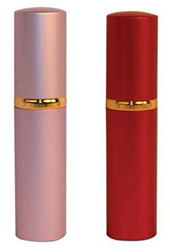 Lipstick Pepper Spray Lot of (2) Red (1) Pink (1)