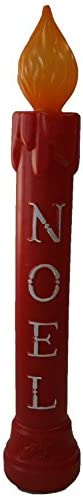 Union 77330 Lighted Noel Candle, Illuminated with Cord and Light Included, 39 High, Red