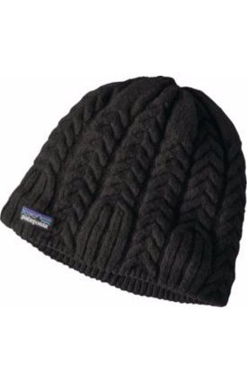 Patagonia Fleece Cap (Patagonia Womens Cable Beanie (Black, One Size Fits All))