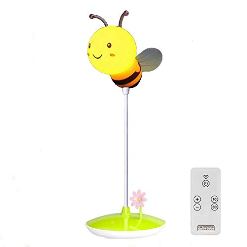 LED Nursery Night Lights for Kids, Cute Animal Silicone Baby Night Light with Remote Control, 3 Level Dimmer Table Lamps for Bedroom Nightlight Lamp Baby Gift (Yellow Honeybee)