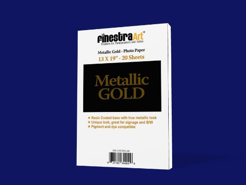 13'' X 19'' 20 Sheets Metallic Gold Inkjet Photo Paper [Office Product]