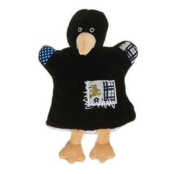 Histoire dOurs - Peluches et Doudous - Doudou marionnette corbeau noir - Collection :