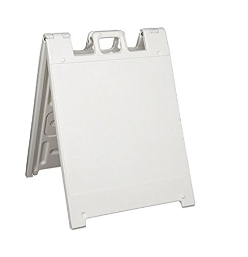 Squarecade 36 A-frame Portable Sign Stand, Color=White by Plasticade