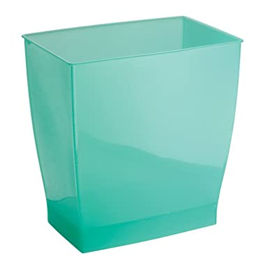 InterDesign Mono Wastebasket Trash Can for Bathroom, Kitchen, Office - Aruba Green