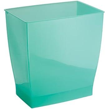 InterDesign Mono Wastebasket Trash Can For Bathroom, Kitchen, Office    Aruba Green