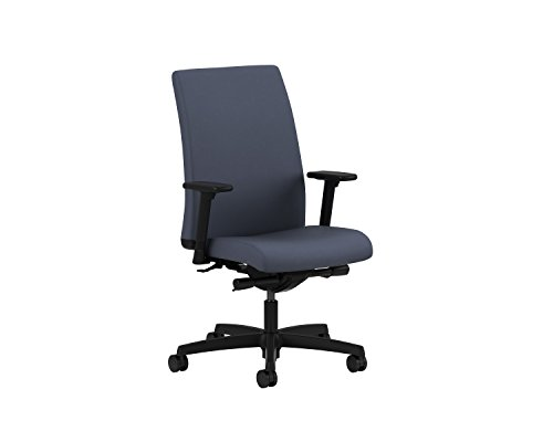 HON Ignition Series Mid-Back Work Chair - Upholstered Computer Chair for Office Desk, Cerulean ()