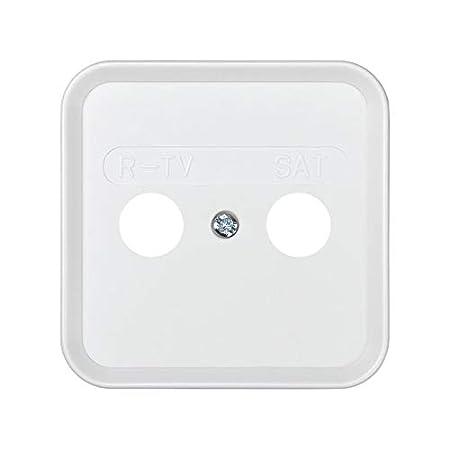 6553130119 31097-60 placa con marco toma r-tv+sat s-31 bl nieve Ref Simon