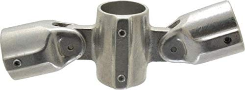 Hollaender - 1-1/2 Inch Pipe, Adjustable Cross Assembly, Aluminum Alloy Pipe Rail Fitting (2 Pack)