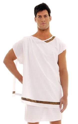 [Underwraps Men's Toga Male, White, One Size] (Toga Party Male Costume)