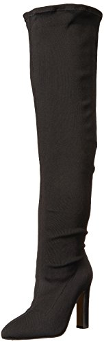 The Fix Women's Kendra Stretch Thigh-High-Heeled Boot, Black, 7 M (Black Women Stretch Boot)