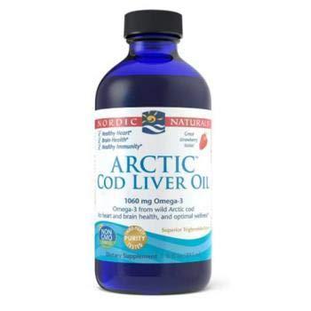 (Nordic Naturals, Arctic Cod Liver Oil-Strawberry, 8 Fl Oz)