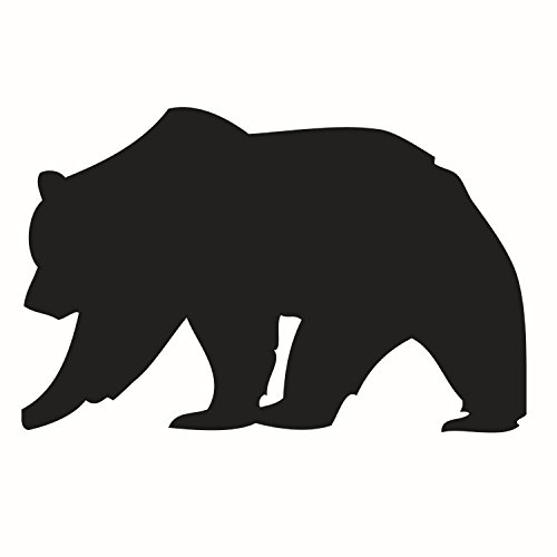 Dnven  Big Black Bear Silhouette Memorandum Vinyl Wall Decal