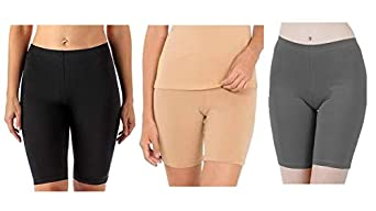 REGALIA PROCOT Shorts for Combo Women Girls Cycling, Tights, Under Skirt, Swimming, Yoga, Gym 4 Way Stretchable Cotton Lycra Fabric Pack of 1/2/3