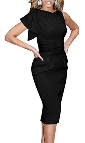 Ruched Bodice Silk Dress - 9